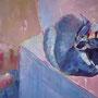 Kritzels Katze: Acryl auf Leinwand, 80 x 60 cm