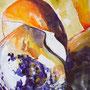 Erdiger Steinpilz: Acryl/Aquarell auf Papier, 40 x 50 cm