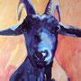 Neugieriger Bock: Acryl auf Papier, 50 x 64 cm