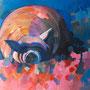 Süße Träume: Acryl auf Papier, 70 x 50 cm
