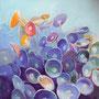 Schirmchenalgen I: Acryl auf Leinwand, 60 x 60 cm