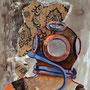Underwater Home: Acryl, Mischtechnik auf Papier, 40 x 50 cm