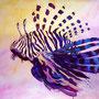 Feuerfisch II: Acryl auf Papier, 64 x 50 cm