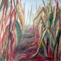 Im Maisfeld I: Acryl auf Leinwand, 100 x 100 cm