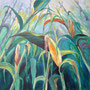 Im Maisfeld II: Acryl auf Leinwand, 100 x 100 cm