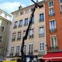 Levage dans des accès réduits, Place Saint André, Grenoble