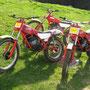 1982: Nach langer Motorradpause kommt Fantic 200 ins Haus und ist auch heute noch die Speerspitze (links vorne) im Rennstall von Hirschmann.