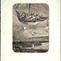 Les malheurs de Sophie.  collage, signed, 1963, 40,5x30,5  €  2.000
