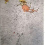Comme un papillion, Alch./Froiss., signed 1974, 30 x 20,5  € 1.300