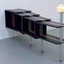 'Crocodile for you'   mdf, bamboe, metal-tube, antique light, 2009,  € 4.000
