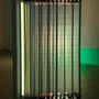 'Swing ding',  metal,  fabric, plexi, led-light, 2010,    € 6.500
