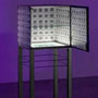'Inner world II'   mdf, metalfoot, led-light, mirror, 2009,          € 2.250