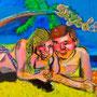 Ditje en datje, acrylic, canvas    € 700