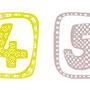 Ziffer / Zahlenbordüre 0–9 / 10 Farben 1 / 500 x 15,5 cm / Digitaldruck auf Vliestapete / Rapport