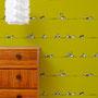 Sonstwo f / Häuserreihen / grün / 139,5 x 270 cm / Raumbild