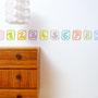 Ziffer / Zahlenbordüre 0–9 / 10 Farben 1 / 500 x 15,5 cm / Raumbild 1