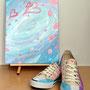 (イラスト)震災直後に描いた作品「sakuLOVE」。愛の花びらが届きますように。咲き乱れるように。歩み出そうとの願いを込めて。(2011/3)