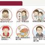 (宮崎日日新聞様)ウェブサイト内「お誕生日記念日新聞」紹介ページのイラストを担当しました。