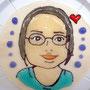 似顔絵ケーキ③おひとりおひとり心を込めて描かせていただきます♪