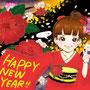 HAPPY NEW YEARイラスト(2014/1)
