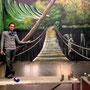 Wandmalerei Brücke und Natur in Bruchmühle Illusionsmalerei