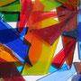 Abfall eines Kunstglasers für neue Kunstwerke