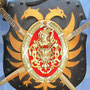 Escudo en metal forjado hecho en España