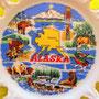 "Plato-souvenir del estado de Alaska, de 7¼"" de diámetro"