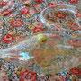 """Frasquito de cristal transparente en forma de cisne de 6"""" de alto"""