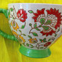 Taza de té Artistic Accents diseñada (o traída a Gringolandia) por Coastline Imports