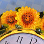 New line of 3D sunflower quarz wall clock KMC (China)