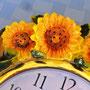New line of 3D sunflower quarz wall clock KMC (China)