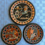 Vintage Egyptian Wall Art Copper Plates Set