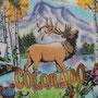 Plato souvenir del estado de Colorado con sus atracciones: esquí invernal, globos aerostáticos, juegos de azar, etc.