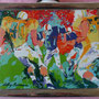 LeRoy Neiman 1979 Football #3 in Series Sports Conmemorative decanter