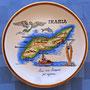 Precioso platillo-souvenir griego de la isla de Icaria