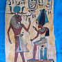 Panel hand-painted with motives of the pharaonic times