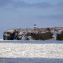 能取岬と流氷。