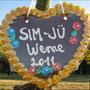 Sim-Jü-Werbung im Bürgerwald