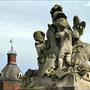 Skulpturen auf der Terassentreppevom Schloss Nordkirchen.