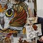 Kunst auf der Comicon: Wo andere Teebeutel wegwerfen, beginnt für diesen Künstler die Arbeit ;-)