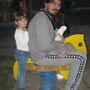 Massimo Claudia e un cavallino del parco Amendola