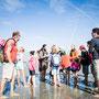 Traversée de la baie du Mont Saint Michel : Moments d'échanges (à Gambettes en Baie)
