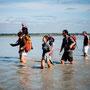 Traversee baie  : On traverse les fleuves Sée et la Sélune