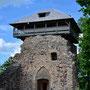 Ruine Burg Segewold - Sigulda, Livland, Lettland (2016), sanierter Wehrturm