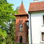 Tüngen - Bogatynskie, Ostpreußen - Polen (2020), der später hinzugefügte Wasserturm