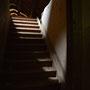 Elley, Ellei - Eleja, Kurland - Lettland (2019), Treppenaufgang zum Dachboden im Seitengebäude