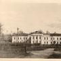 Unbekanntes Herrenhaus vermutlich zwischen Gatchina und Tosno, Gouvernement Sankt Petersburg, Russland, Stabsquartier im II. WK