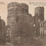 Ruine der Ordensburg Bauske - Bauska, Kurland, Lettland (um 1918)