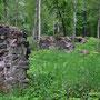 Reste der Ruine des Schlosses Kokenhusen - Koknese, Livland, Lettland (2016)